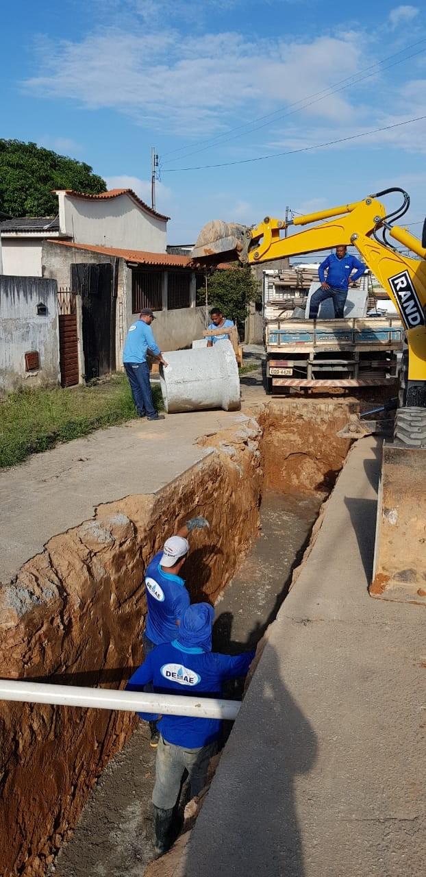 DEMAE iniciou obra que acabará com os transtornos causados pela chuva no Jardim América