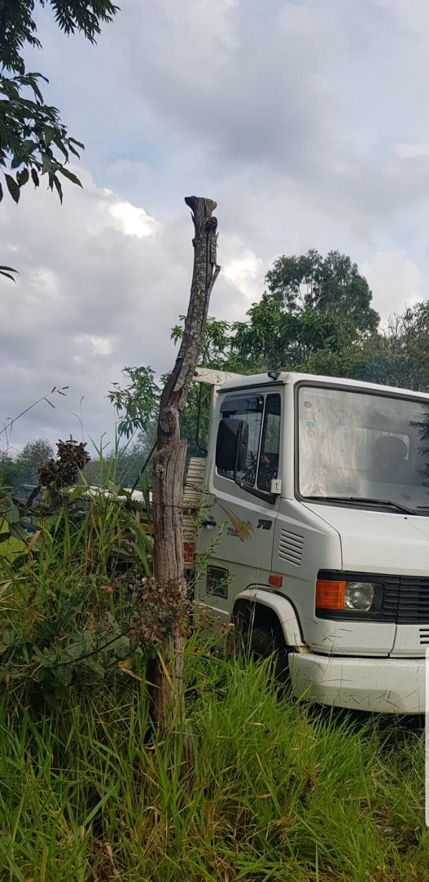 Caminhão furtado foi recuperado em uma ação rápida da Polícia Militar