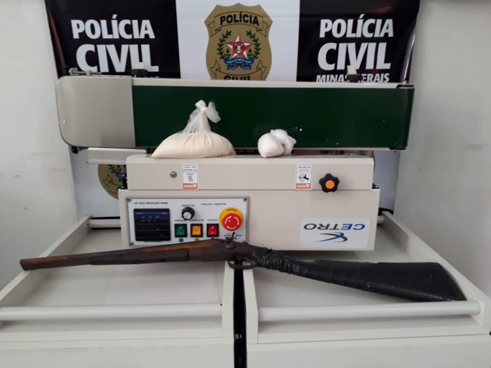 Maquina de embalagem à vácuo utilizada pelos criminosos é apreendida pela Polícia Civil