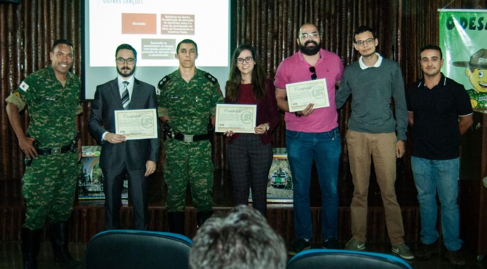 Polícia Militar do Meio Meio Ambiente de Lavras participa de palestras para aprimoramento profissional