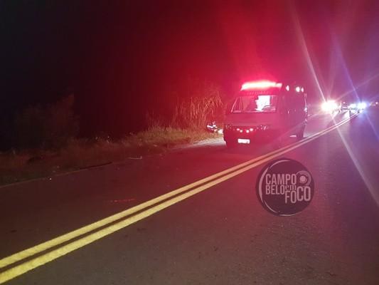 Dois jovens ficaram feridos em acidente na BR-369, próximo à Aguanil