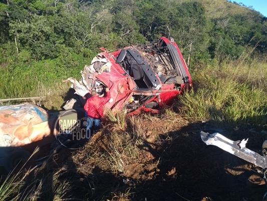 Campo-belense sofre acidente, na BR-265, próximo à Nazareno/MG