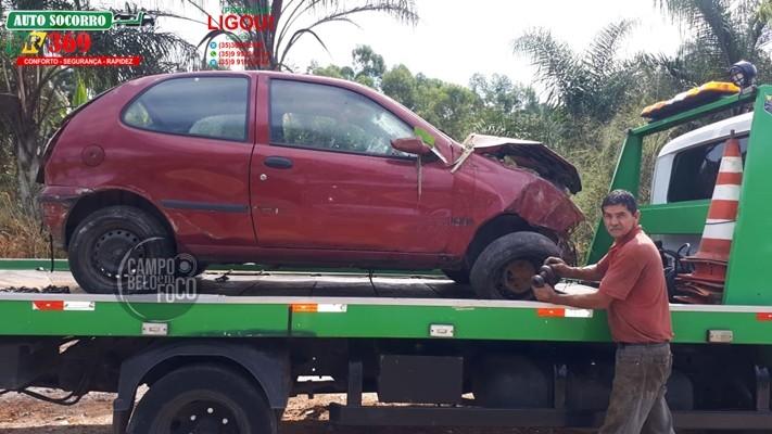 Três pessoas ficaram feridas em acidente na BR-369, próximo à Campo Belo