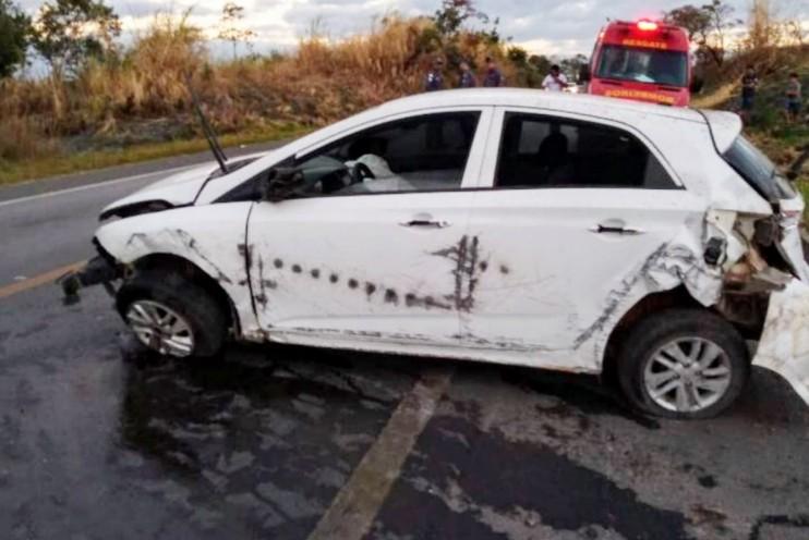 Dois acidentes foram registrados na BR-354, entre Candeias e Formiga