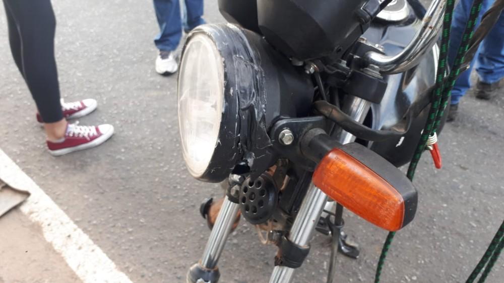 Motociclista fica gravemente ferido em acidente no Alto das Mercês em Campo Belo
