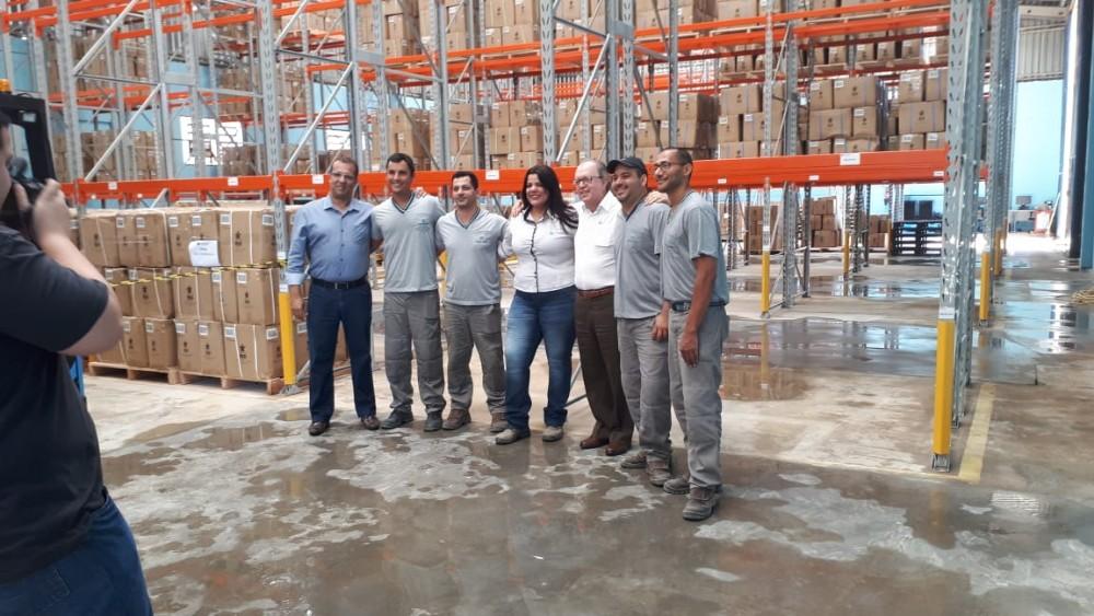Presidente da MARLUVAS visita as instalações da indústria que já deu início aos trabalhos