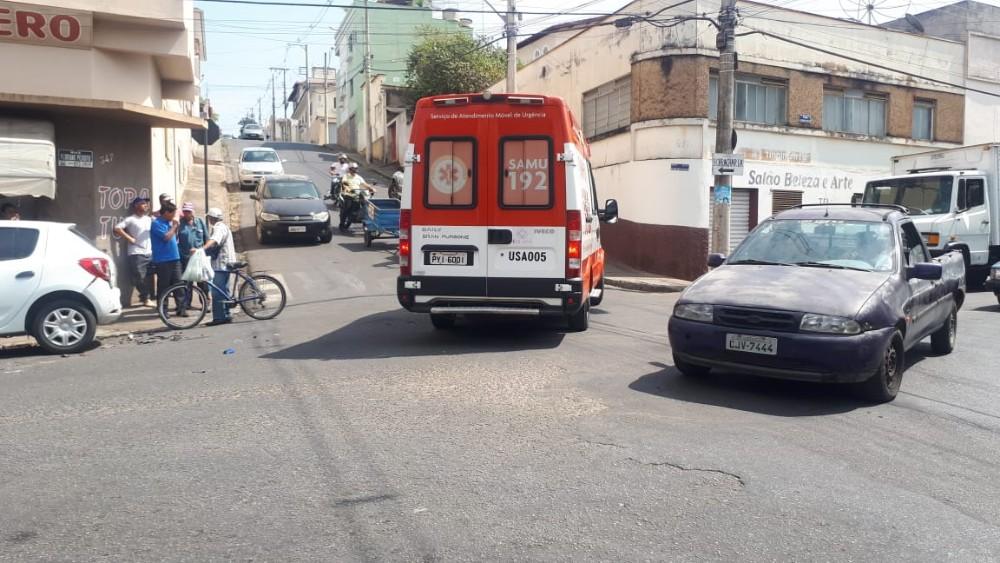 Grave acidente é registrado no centro de Campo Belo