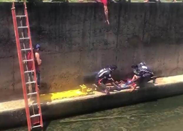 Campo Belo - Adolescente de 13 anos passa mal e cai dentro do ribeirão, veja!