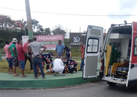 Motociclista fica ferido em acidente no bairro Passa Tempo, veja!