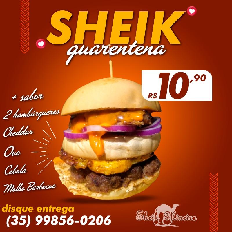 Sheik Mineiro - Peça está delícia de Hambúrguer, por apenas R$10 reais