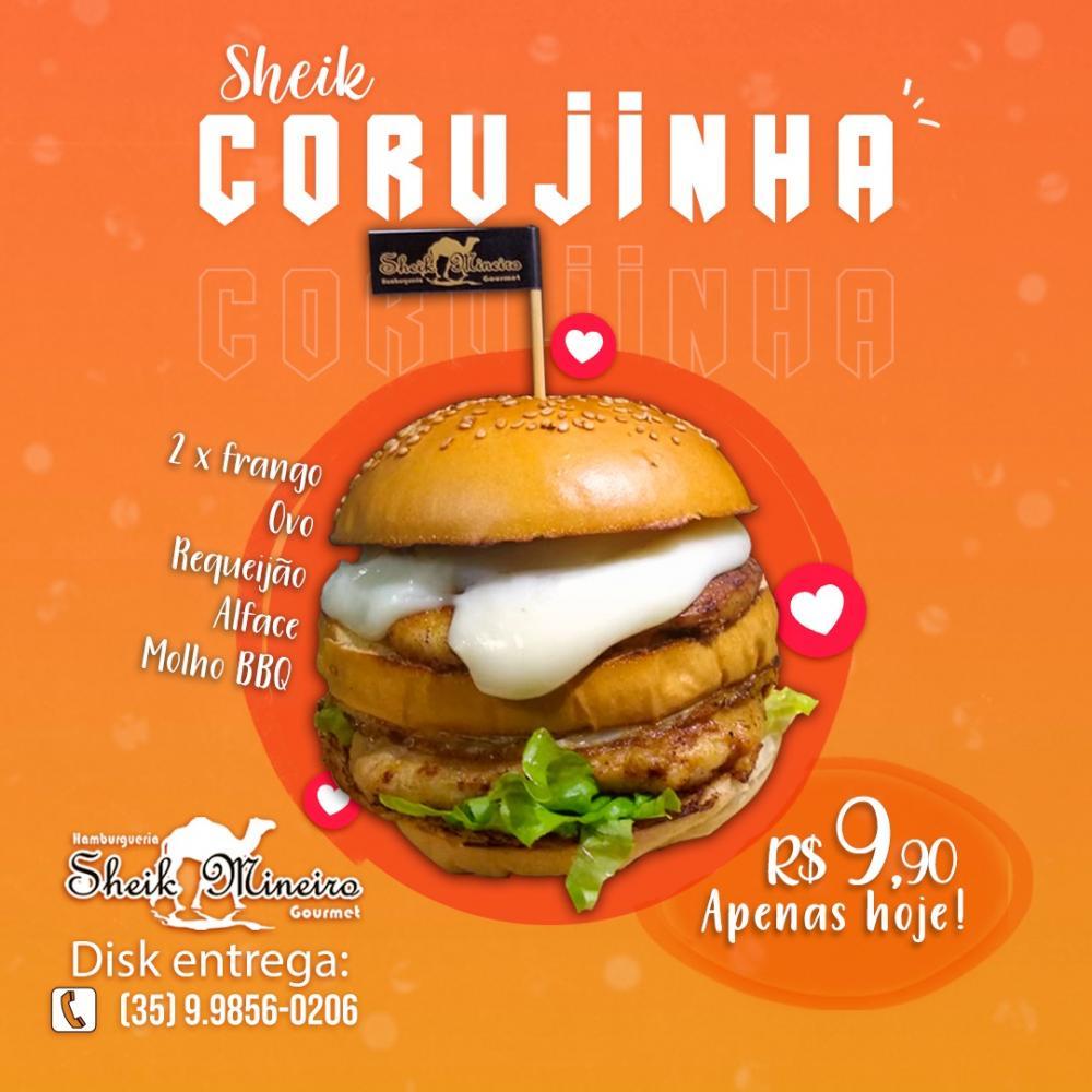 Delicioso Sheik Corujinha, por apenas R$9,90, peça o seu!